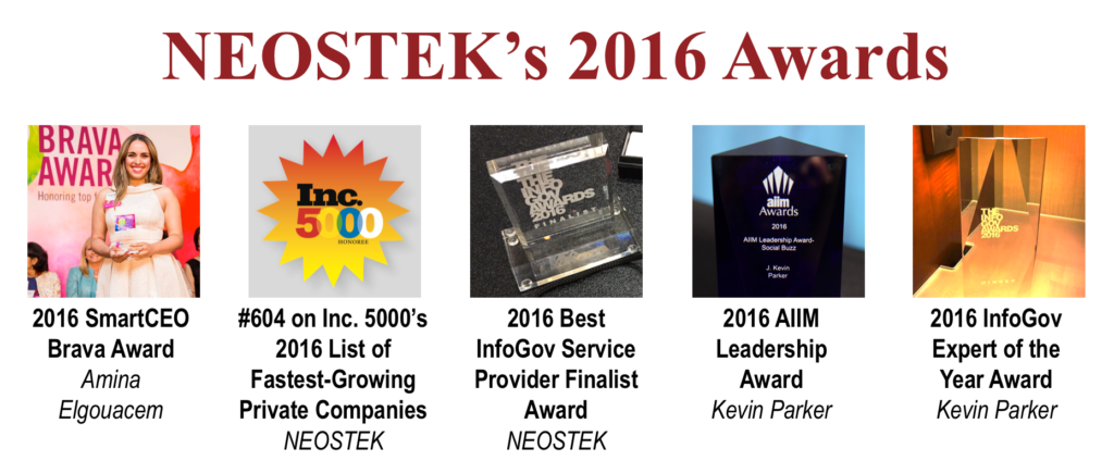 NEOSTEK's 2016 Awards